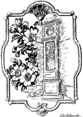 LaBlanche Stamp - Frame with Standing Clock