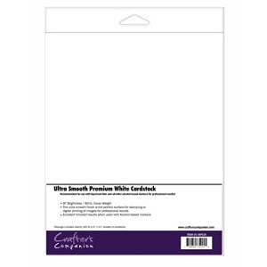 Ultra Smooth Premium White Cardstock for Alcohol Markers - 20 sheets/Pkg